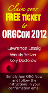 Join ORG Now for your FREE ticket to ORGCon 2012